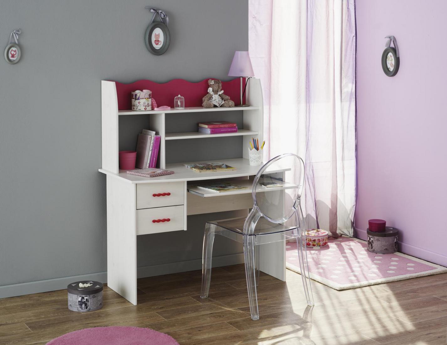 schreibtisch mit aufsatz lore wei kiefer kaufen bei m bel lux. Black Bedroom Furniture Sets. Home Design Ideas