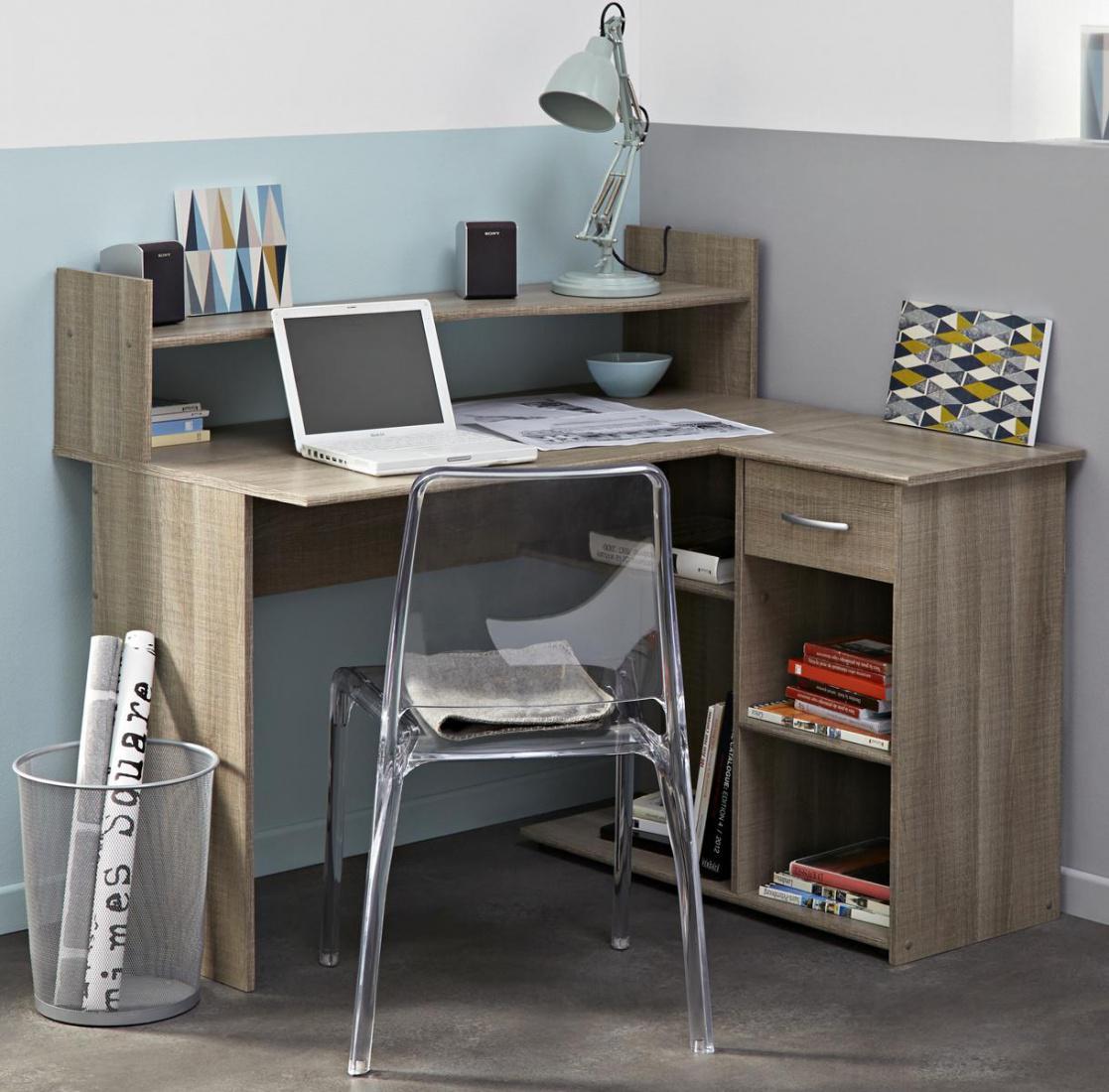 eck schreibtisch beatrix eiche curtis kaufen bei m bel lux. Black Bedroom Furniture Sets. Home Design Ideas