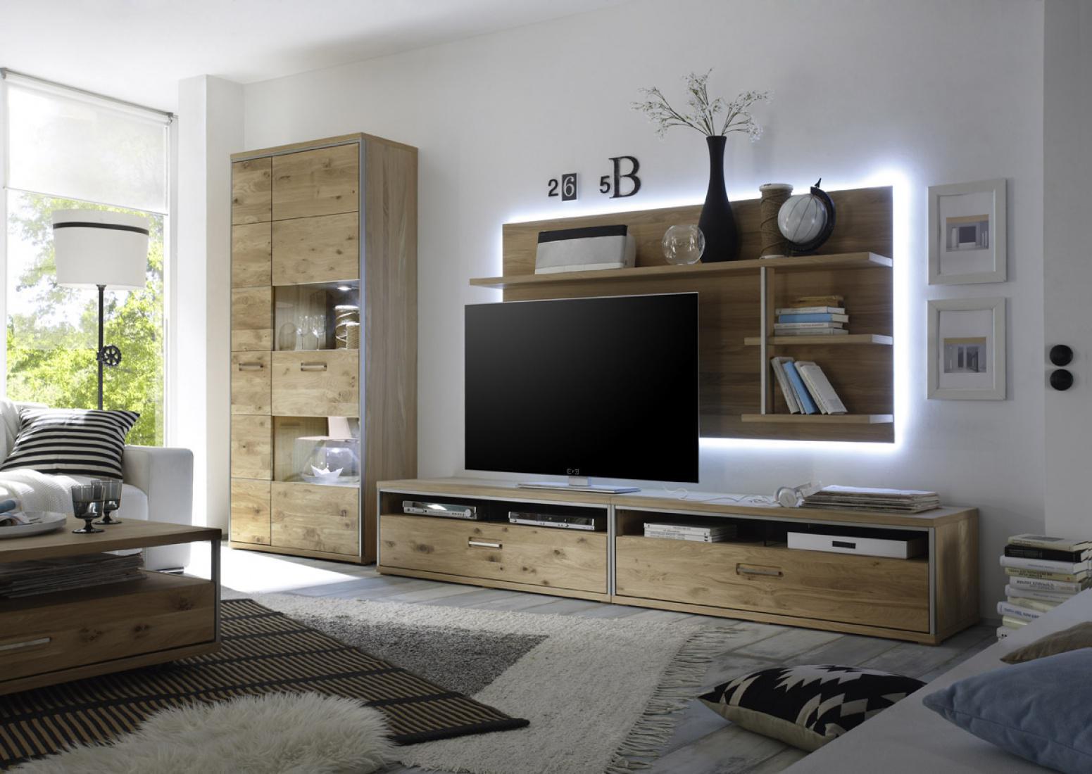 tv wandpaneel meja in ast eiche bianco massiv kaufen. Black Bedroom Furniture Sets. Home Design Ideas