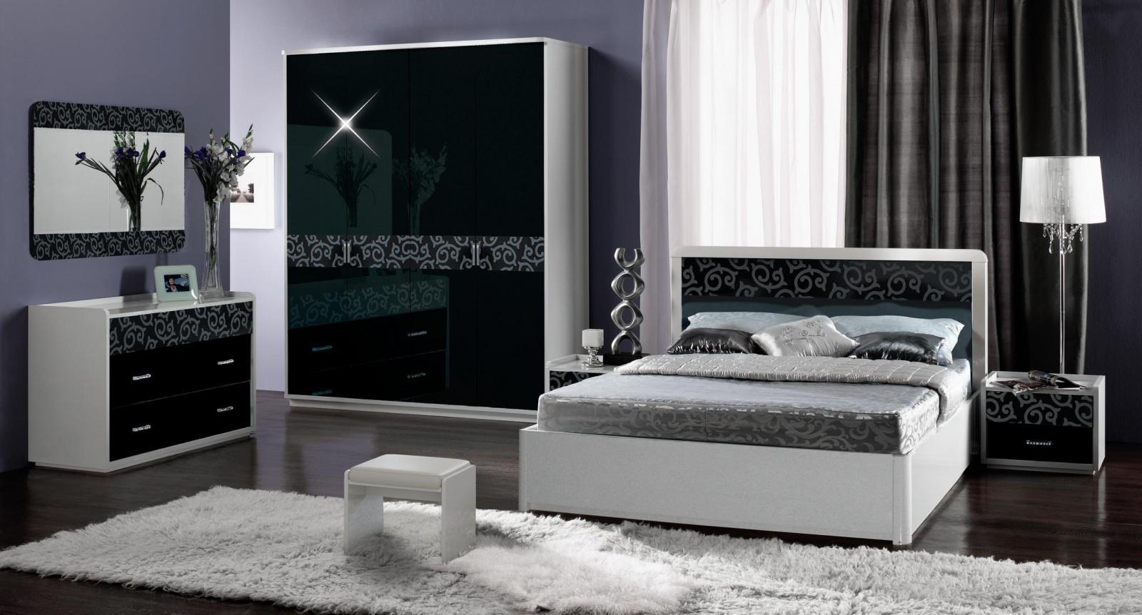 Luxus Schlafzimmer Schwarz Weiß ...