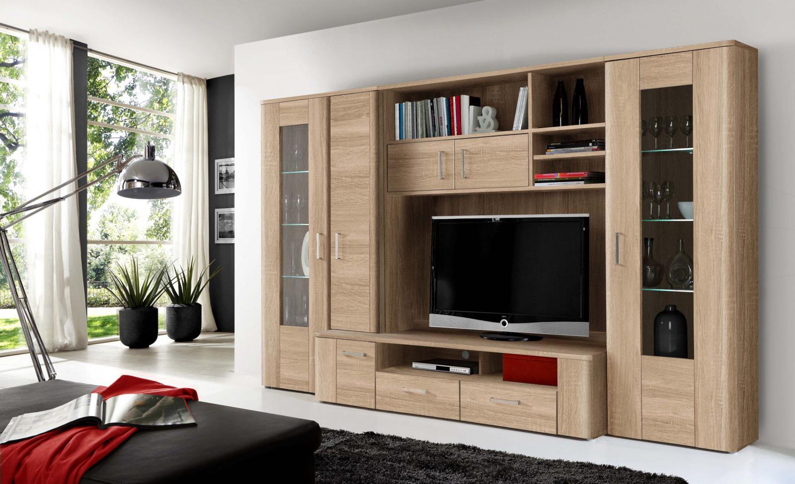 wohnwand libella 6 t rig in sonoma eiche kaufen bei. Black Bedroom Furniture Sets. Home Design Ideas
