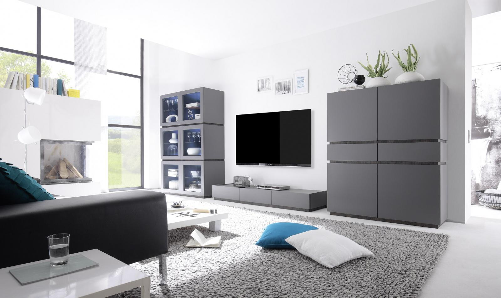 tv lowboard bloom in anthrazit wenge kaufen bei m bel lux. Black Bedroom Furniture Sets. Home Design Ideas