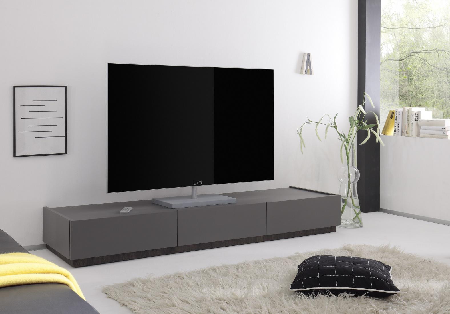 tv lowboard bloom in anthrazit wenge kaufen bei m bel lux. Black Bedroom Furniture Sets. Home Design Ideas