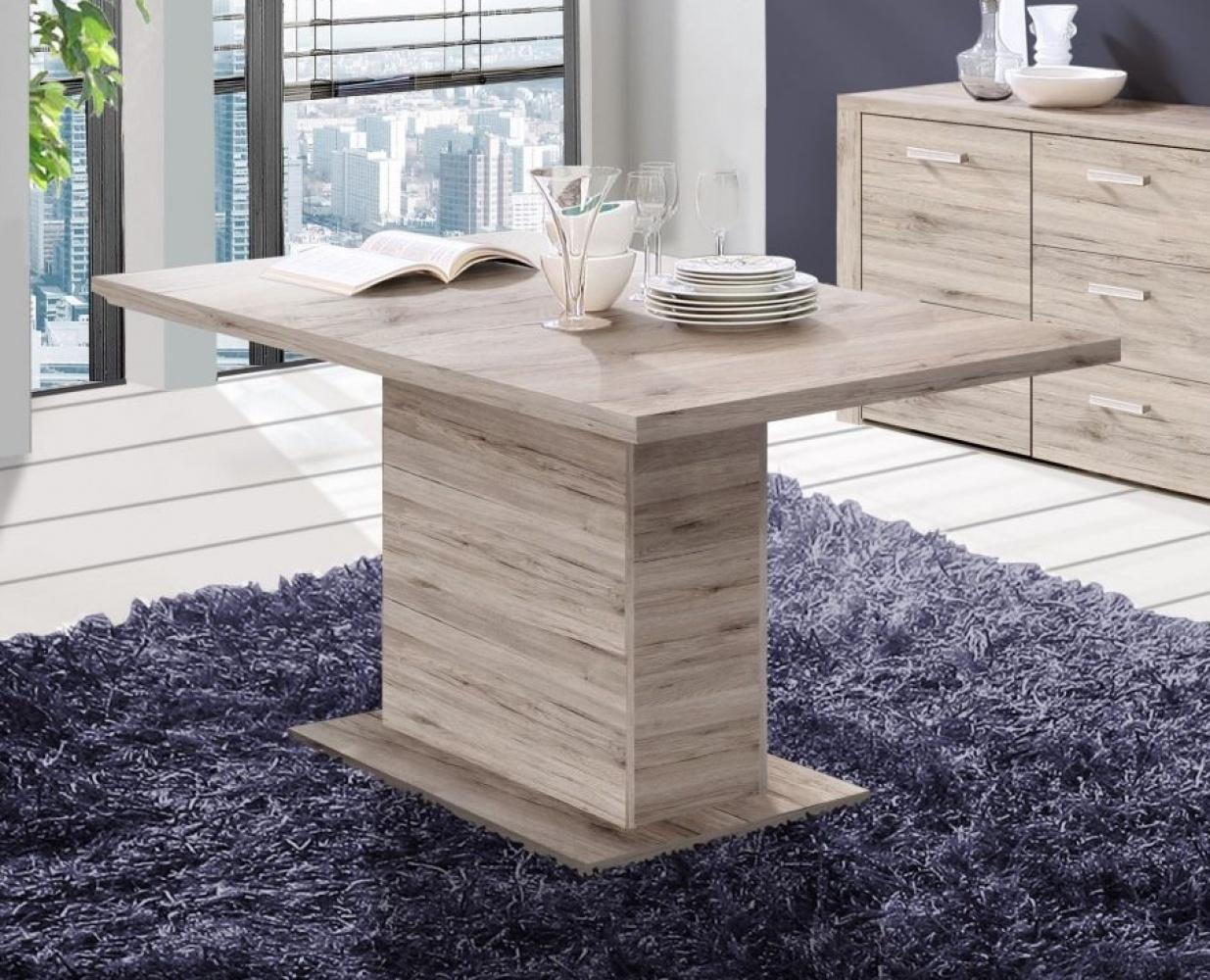 esszimmertisch julietta ausziehbar 160x90 cm in sandeiche kaufen bei m bel lux. Black Bedroom Furniture Sets. Home Design Ideas