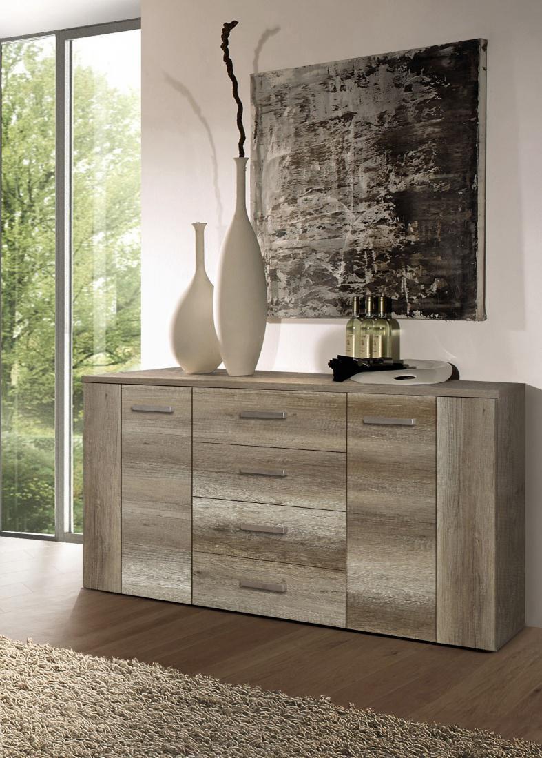 wohnwand ciara 4 teilig eiche antik cacao supermatt kaufen bei m bel lux. Black Bedroom Furniture Sets. Home Design Ideas