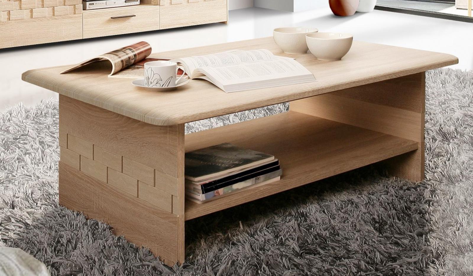 couchtisch claudia in sonoma eiche kaufen bei m bel lux. Black Bedroom Furniture Sets. Home Design Ideas