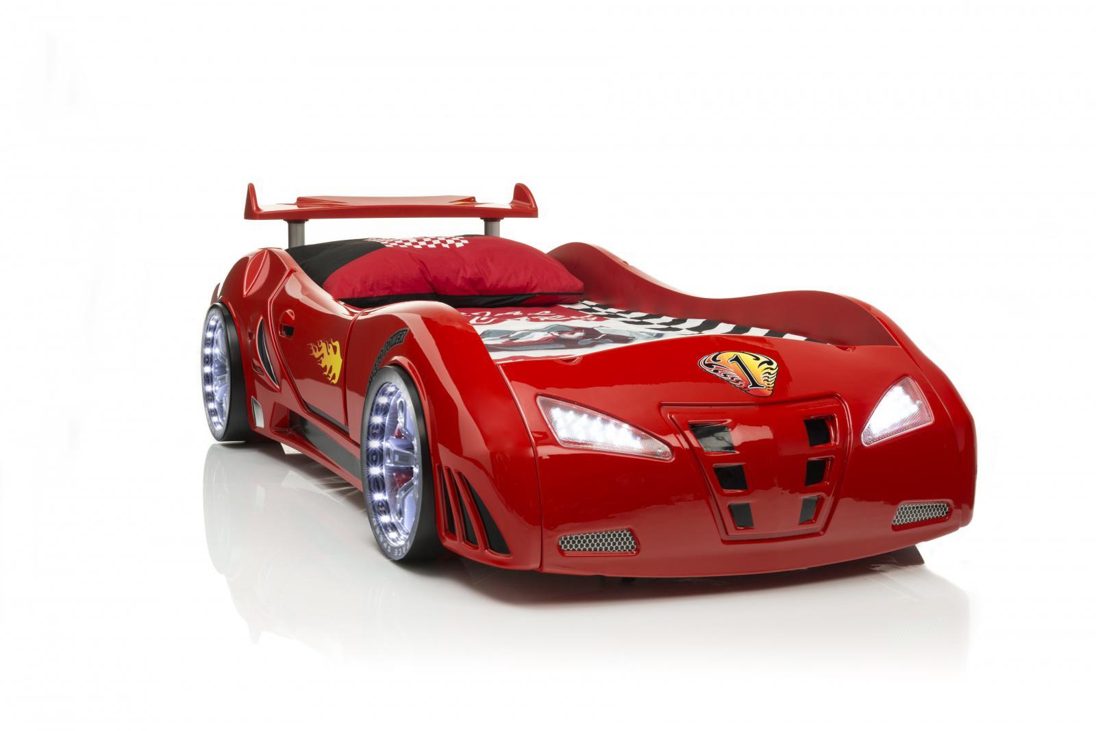 Cars Bett 90x200: Autobett-Kinderbett RedCar Mit Full Funktion