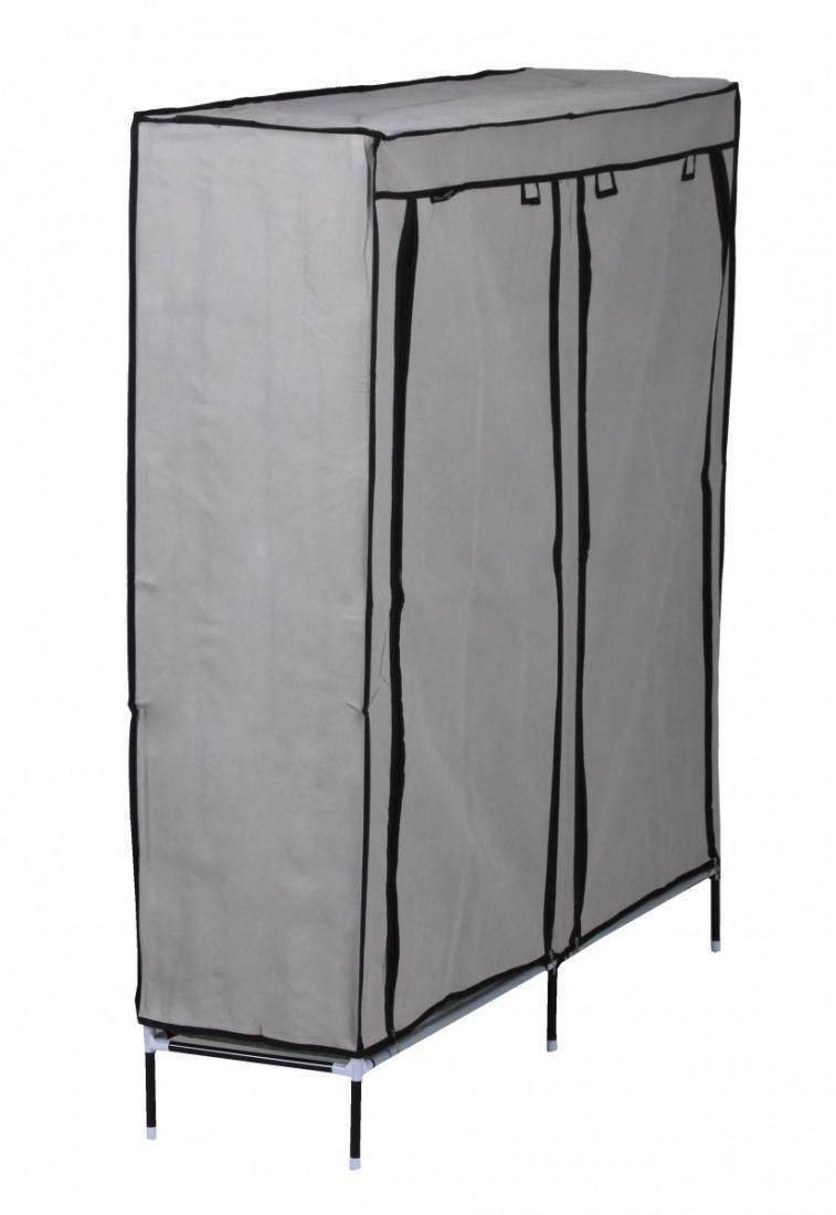 textil schuhschrank 118 x 110 x 30 cm f r 36 paar schuhe grau kaufen bei m bel lux. Black Bedroom Furniture Sets. Home Design Ideas