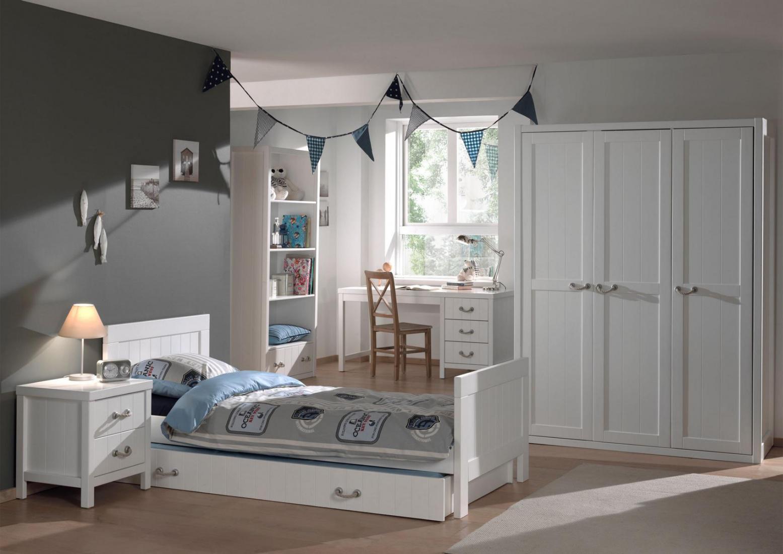 jugendzimmer set iny 6 teilig in wei mdf kaufen bei m bel lux. Black Bedroom Furniture Sets. Home Design Ideas