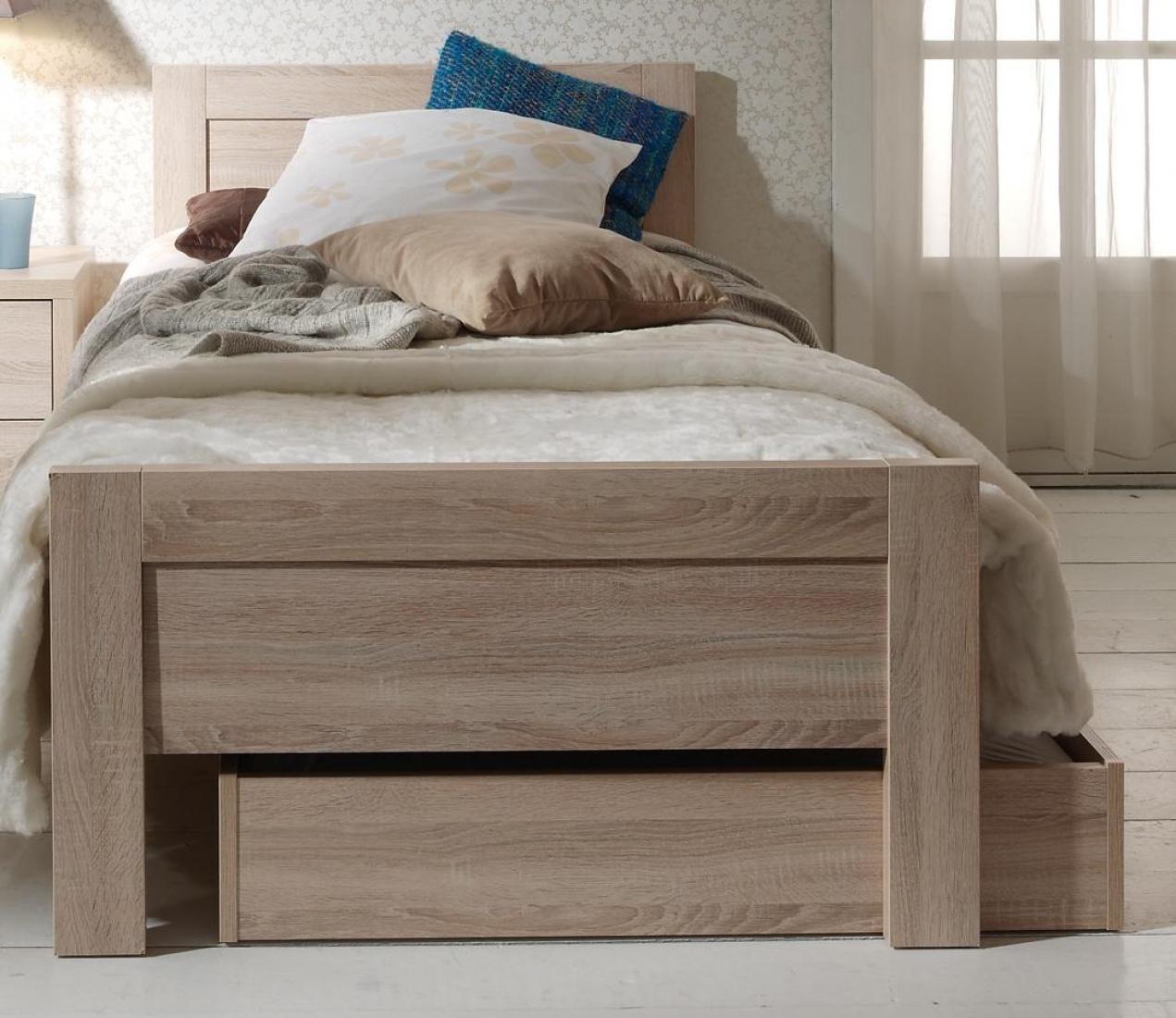 kinderbett mats 90x200 cm in sonoma eiche hell kaufen. Black Bedroom Furniture Sets. Home Design Ideas