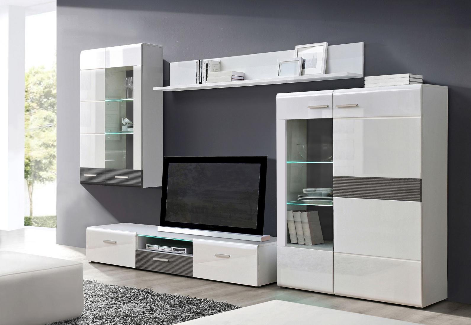 wohnwand wei grau bestseller shop f r m bel und einrichtungen. Black Bedroom Furniture Sets. Home Design Ideas