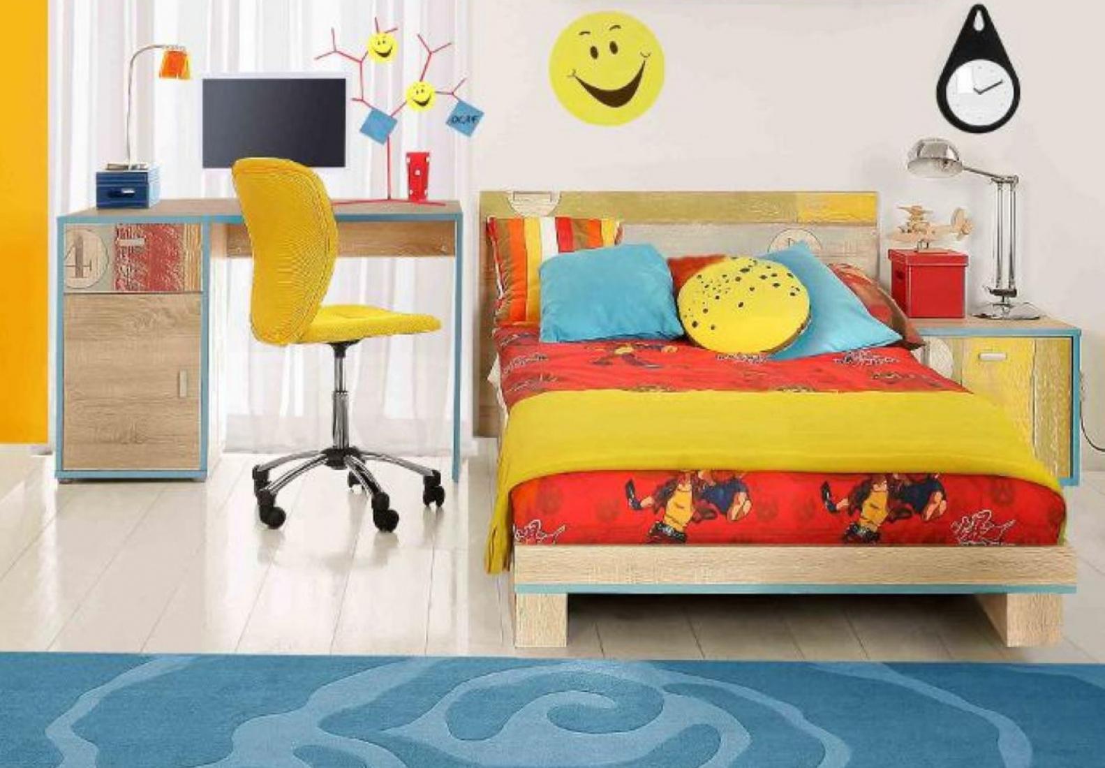 jugendbett benny 90x200 cm in sonoma eiche kaufen bei m bel lux. Black Bedroom Furniture Sets. Home Design Ideas