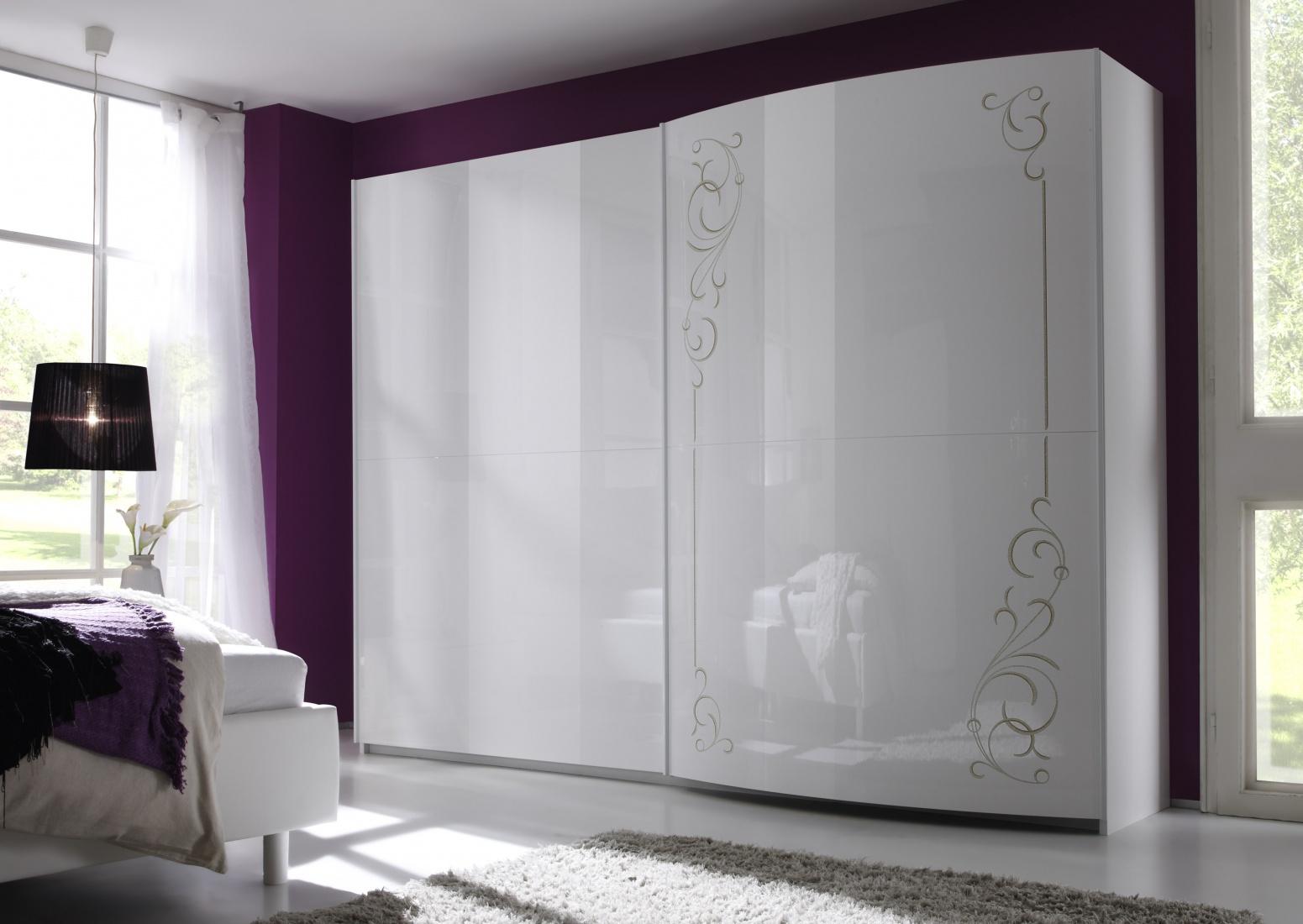 schwebet ren schrank cilia 2 t rig wei hochglanz kaufen bei m bel lux. Black Bedroom Furniture Sets. Home Design Ideas