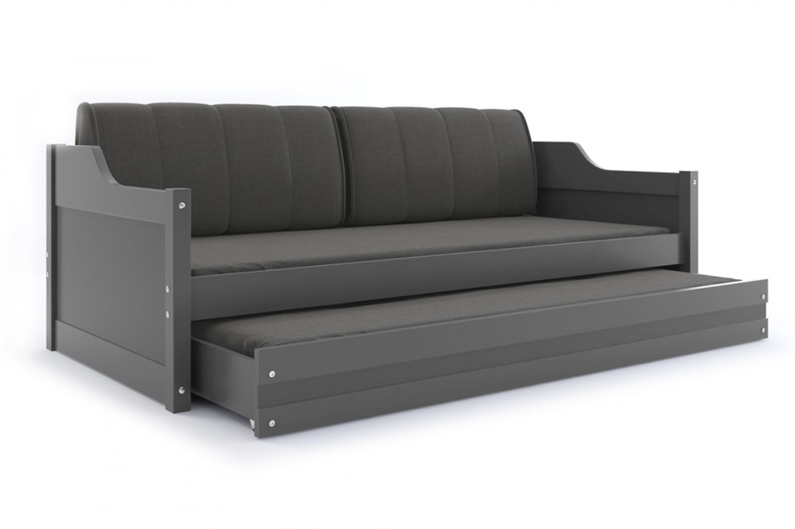 sofabett umny grau mit g stebett inkl lattenrost matratze und kissen kaufen bei m bel lux. Black Bedroom Furniture Sets. Home Design Ideas