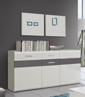 highboard wei grau bestseller shop f r m bel und einrichtungen. Black Bedroom Furniture Sets. Home Design Ideas