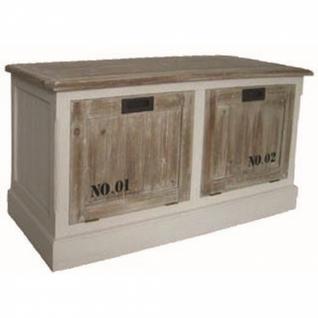Schuhkommode weiß/braun 100 x 50 x 40 cm