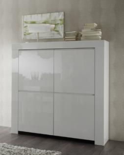 highboard grau hochglanz g nstig kaufen bei yatego. Black Bedroom Furniture Sets. Home Design Ideas