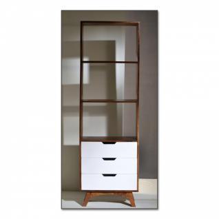 Regal Sixties weiß/braun 60 x 40 x 190 cm