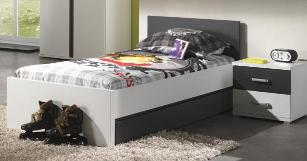 kinderbett linde 90x200 cm in wei mdf kaufen bei m bel lux. Black Bedroom Furniture Sets. Home Design Ideas