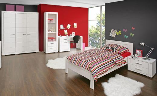 Jugendzimmer Set Kimi 5-teilig in Weiß matt