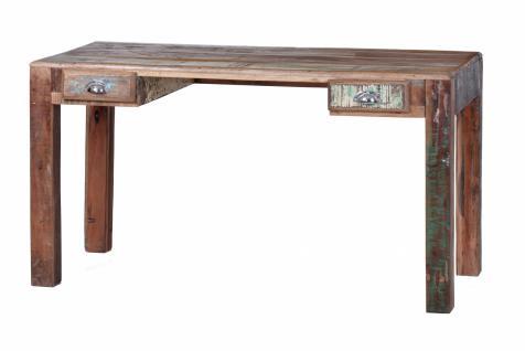 Schreibtisch Freez 140x60 mit 2 Schubladen aus Altholz