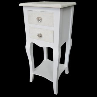 Telefontisch mit 2 Schubladen weiß 28 x 67 x 27 cm