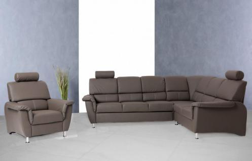 leder ecksofa grau g nstig online kaufen bei yatego. Black Bedroom Furniture Sets. Home Design Ideas