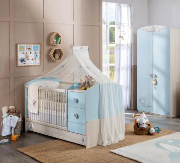 Cilek Baby Boy Bett-Set 3-teilig mit Betthimmel