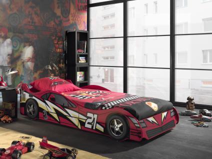 Autobett Sport Car 90x200cm in Rot lackiert