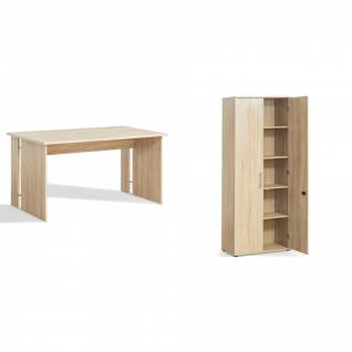 schreibtisch sonoma eiche g nstig kaufen bei yatego. Black Bedroom Furniture Sets. Home Design Ideas