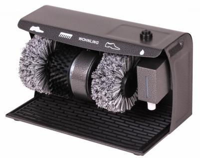 Schuhputzmaschine elektrisch - 3 Bürsten System (Schuhputzautomat Schuhputzer)