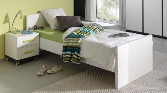 Kinderbett Set Inese 2-teilig in Weiß-Anthrazit