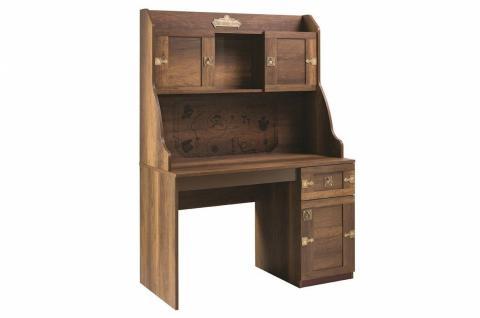 Korsan Pirat Schreibtisch inkl Aufsatz braun für Kinderzimmer