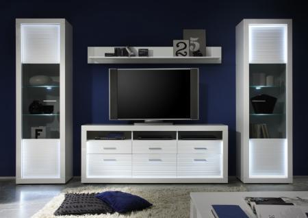 Wohnwand hochglanz modern g nstig kaufen bei yatego for Wohnwand 200 euro