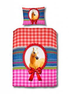 Bettwäsche mit Pferd Motiv 140x220 cm