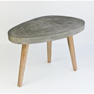 Couchtisch Cement oval mit 3 Beinen