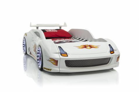 Autobett Racer-Fivex in Weiß mit Fernbedienung
