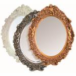 Ovaler Spiegel 15 verschiedene Farben 43 x 50 x 7 cm