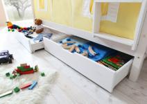 Schubkasten Set für Etagenbetten weiß 88 x 18 x 98 cm