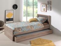 Ember Kinderbett mit Bettschublade Eiche San Remo NB