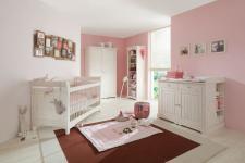 Babyzimmer Amelie 4- teilig white wash Kiefer massiv