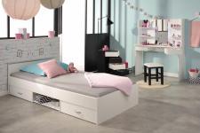 Mädchenzimmer Set Price 4-teilig in Weiß-Schwarz