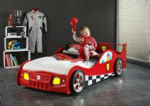 Autobett Monza mit Spoiler in Rot