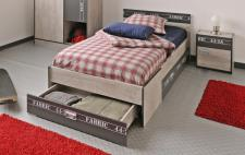 Jugendbett Fabric mit Bettschubkasten