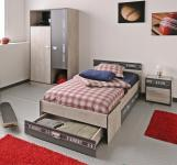 Jugendzimmer Fabric 4-tlg Esche-Grau