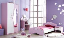 Kinderzimmer Magic 4-teilig in Flieder/Weiß