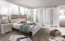 Schlafzimmer Set Zoey 2-teilig in Pinie Weiß massiv