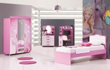Kinderzimmer-Set Zuckerfee 4-teilig in Rosa-Weiß