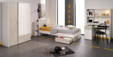 Kinderzimmer Set Enia 4-teilig in Weiß-Grey Loft