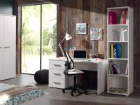 Schreibtisch Set Loly 2-teilig in Weiß